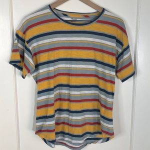 Madewell 70s Striped Tee Large Basic